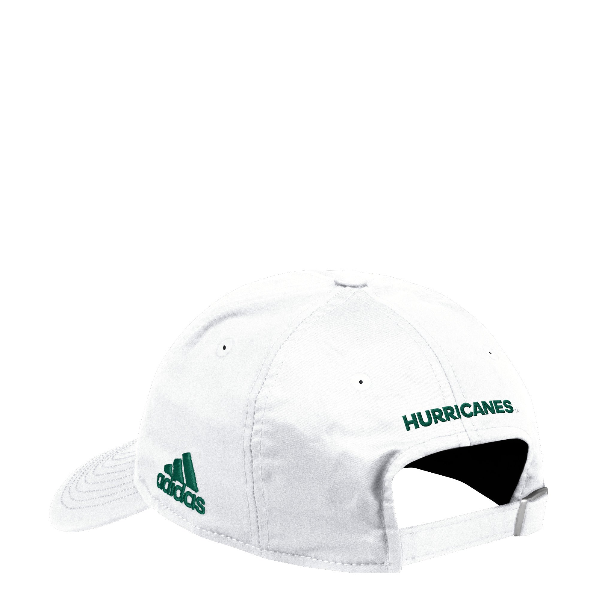 big sale 62601 93463 Miami Hurricanes adidas 2018 Coaches U Adjustable Slouch Hat - White