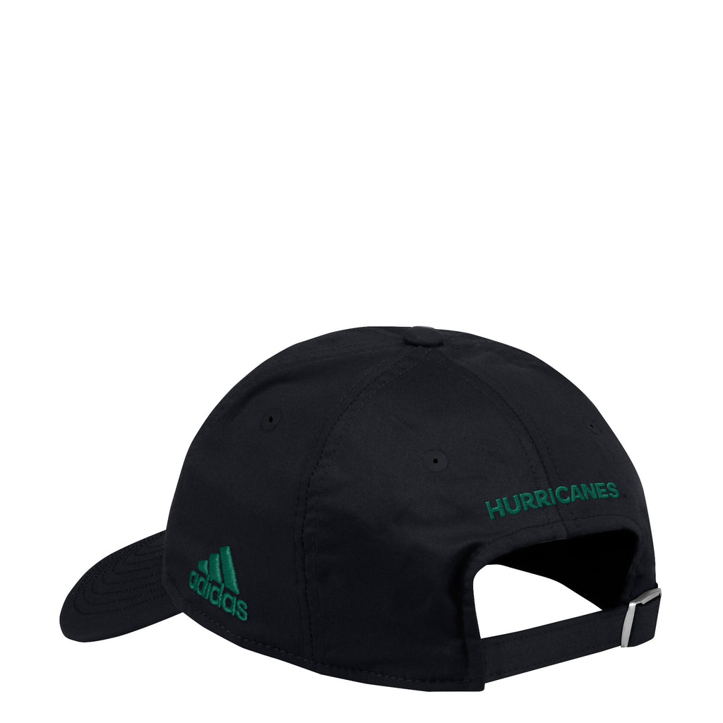 Miami Hurricanes adidas 2018 Coaches U Adjustable Slouch Hat - Black