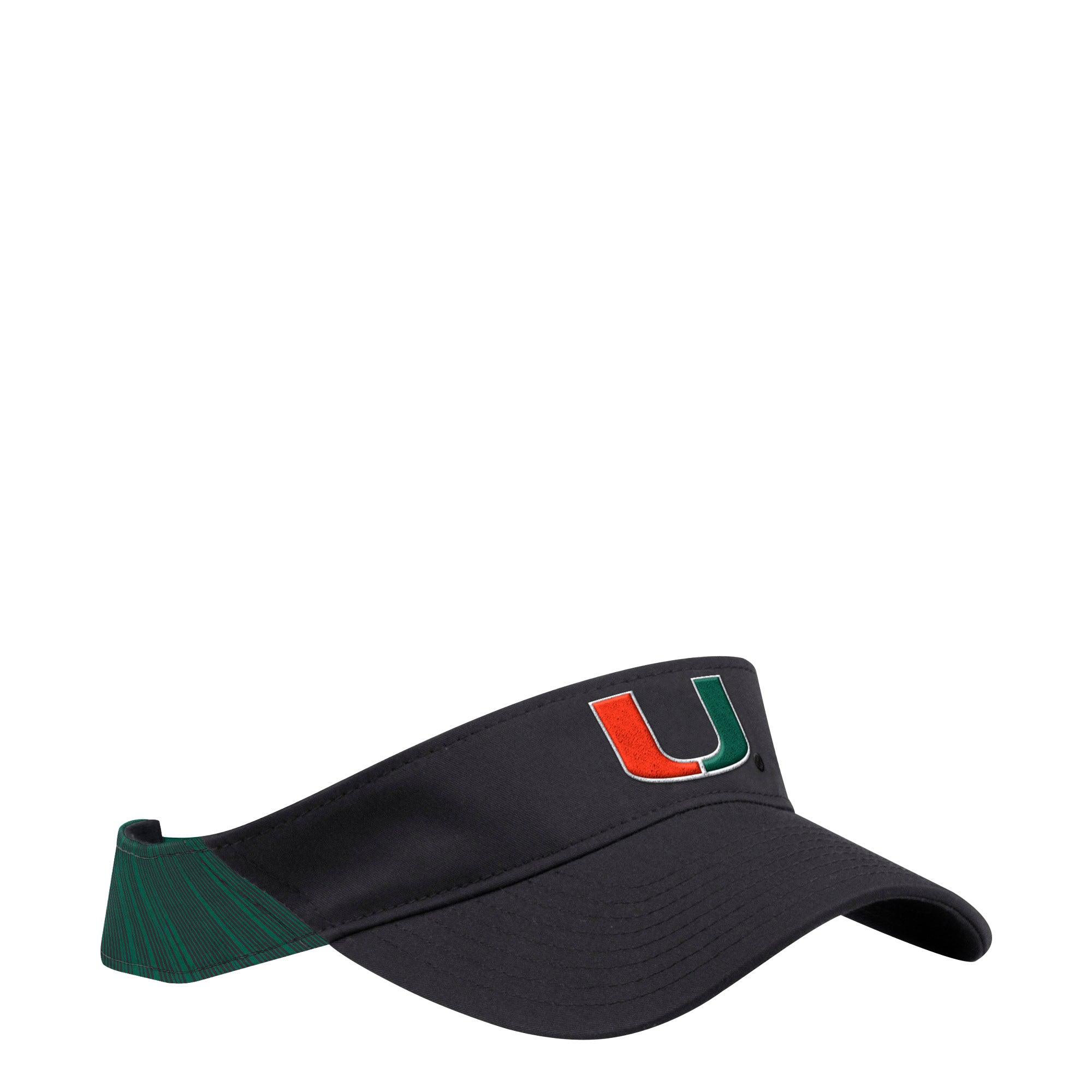 4bc60f7281948 Miami Hurricanes adidas 2018 Coaches U Adjustable Visor - Black Green –  CanesWear at Miami FanWear