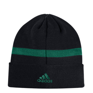 Miami Hurricanes adidas 2018 Green Hurricanes Coaches Cuffed Beanie - Black