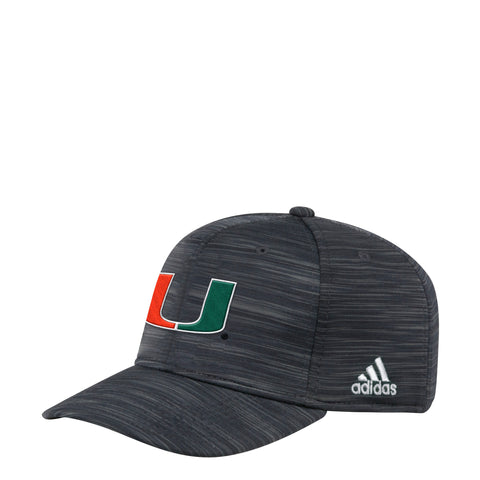 26d37d20fde Miami Hurricanes adidas 2018 Structured Flex Span Hat - Heathered Black.    26.00. Miami Hurricanes adidas 2018 Snapback Pique Mesh Logo Hat - White