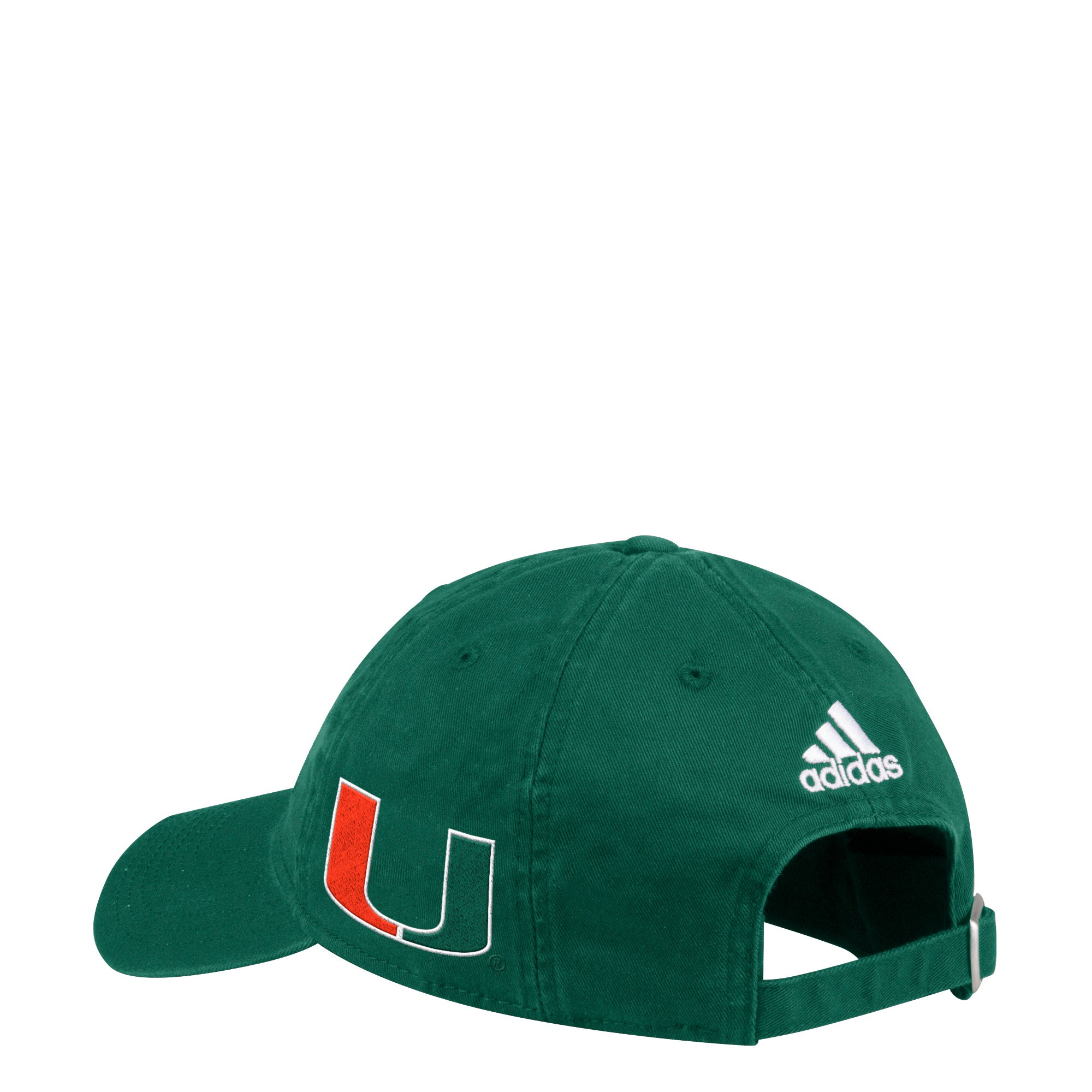 more photos 5ce5f 5e827 Miami Hurricanes adidas 2018 Side U Adjustable Slouch Hat - Green