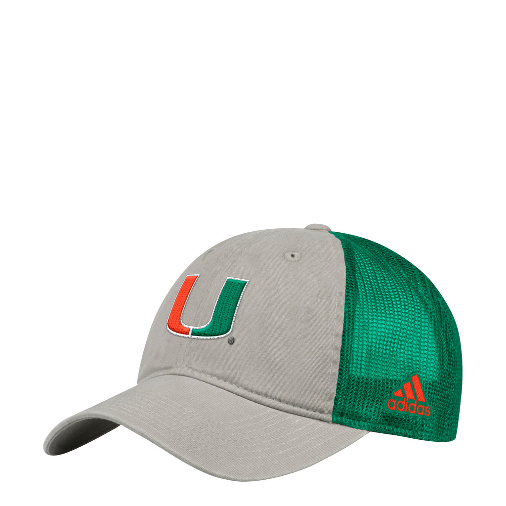 f38979591b6fb ... Miami Hurricanes adidas 2018 Adjustable Slouch Meshback Overdye Print Snapback  Hat ...