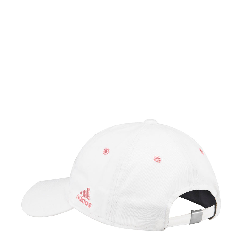 d7bc04857c018 Miami Hurricanes adidas Women s 2018 Pink Sebastian Adjustable Slouch Hat -  White