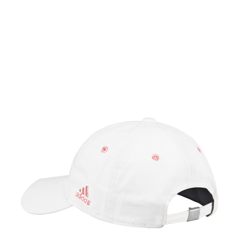 Miami Hurricanes adidas Women's Pink Sebastian Adjustable Slouch Hat - White