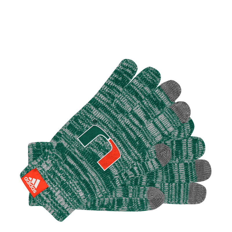 Miami Hurricanes adidas Women's Text Gloves - Green