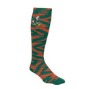 Miami Hurricanes adidas Women's Knee High Socks - Green/Orange