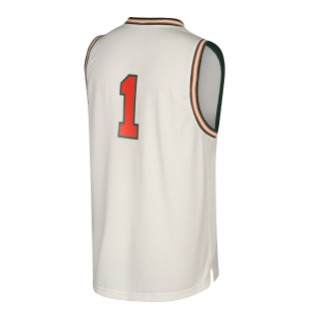 Miami Hurricanes adidas Hardwood Throwback Basketball Jersey