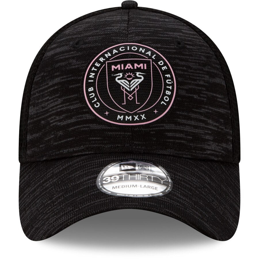 Inter Miami CF New Era 39Thirty On-Field Black Flex Hat