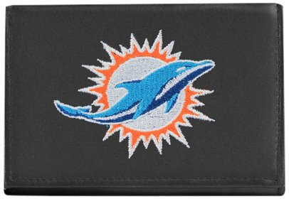Miami Dolphins NFL Embroidered Billfold Wallet