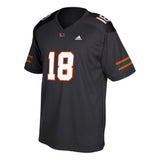 Miami Hurricanes adidas 2018 Youth Football Jersey - Black