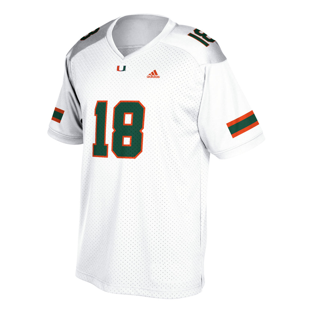 Miami Hurricanes adidas Youth Football Jersey - White