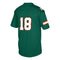 Miami Hurricanes adidas Youth Football Jersey - Green