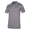 Miami Hurricanes adidas 3 Stripe Polo - Grey