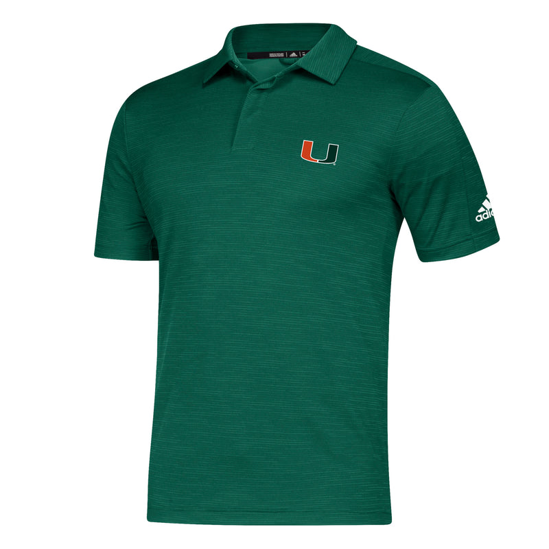 Miami Hurricanes adidas Game Mode Coaches Polo - Green