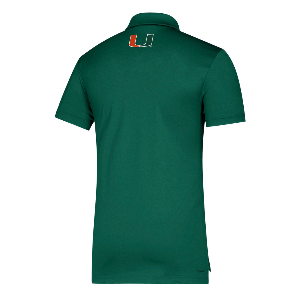 Miami Hurricanes adidas 2019 Game Mode Coordinator Polo - Green