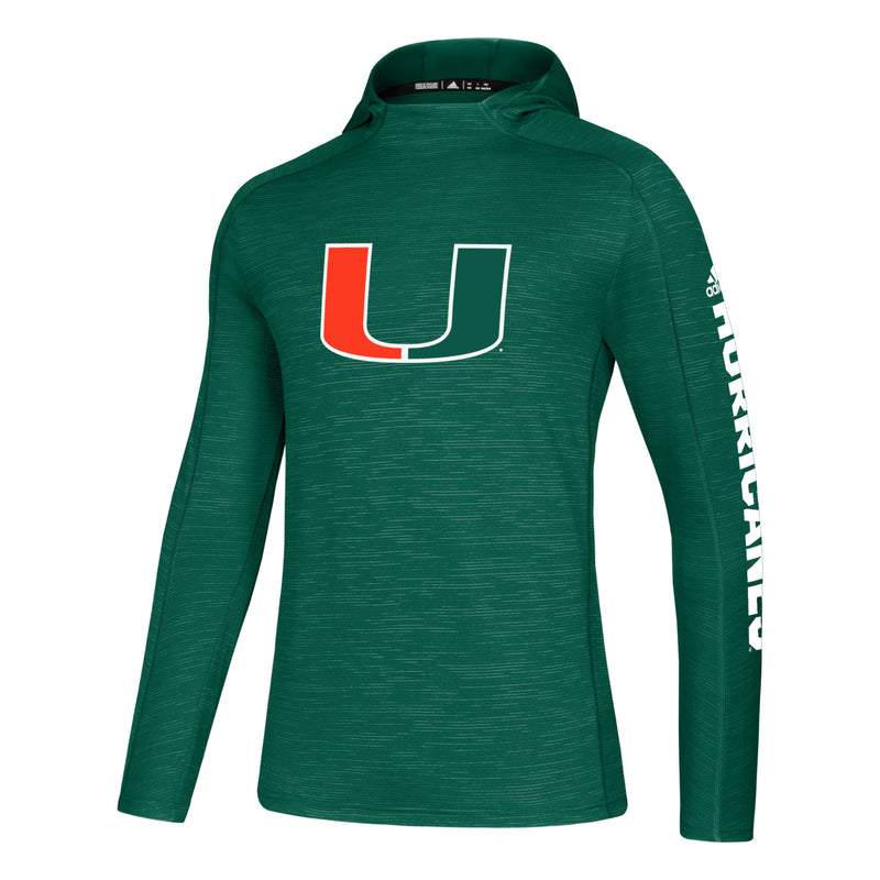 Miami Hurricanes adidas Game Mode Training Hoodie - Green