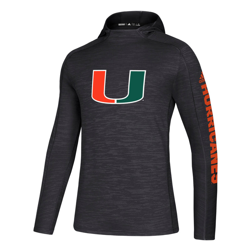 Miami Hurricanes adidas Game Mode Training Hood - Black
