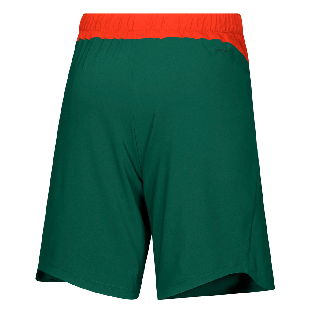 Miami Hurricanes 2019 Game Mode Woven Shorts - Green/Orange