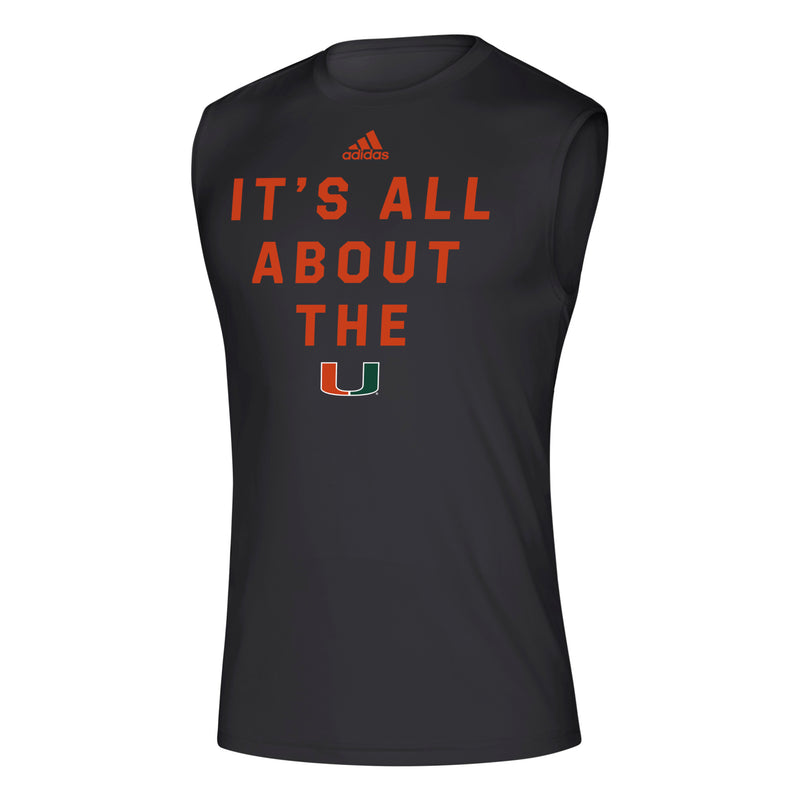 Miami Hurricanes 2019 Locker It's All About the U Creator Sleeveless T-Shirt - Black