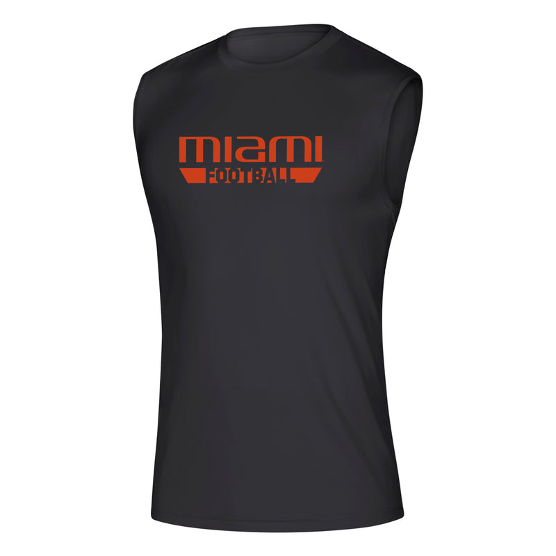 Miami Hurricanes 2019 Locker Practice Football Creator Sleeveless Tee - Black