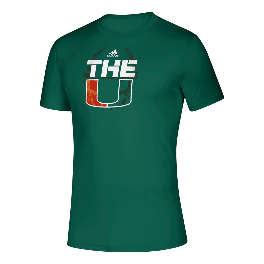 Miami Hurricanes adidas 2019 Sideline Creator Performance T-Shirt - Green