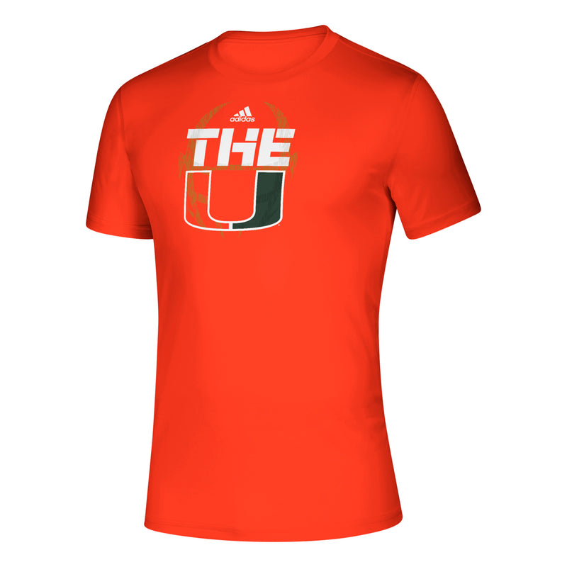 Miami Hurricanes adidas 2019 Creator SS Sideline - Orange