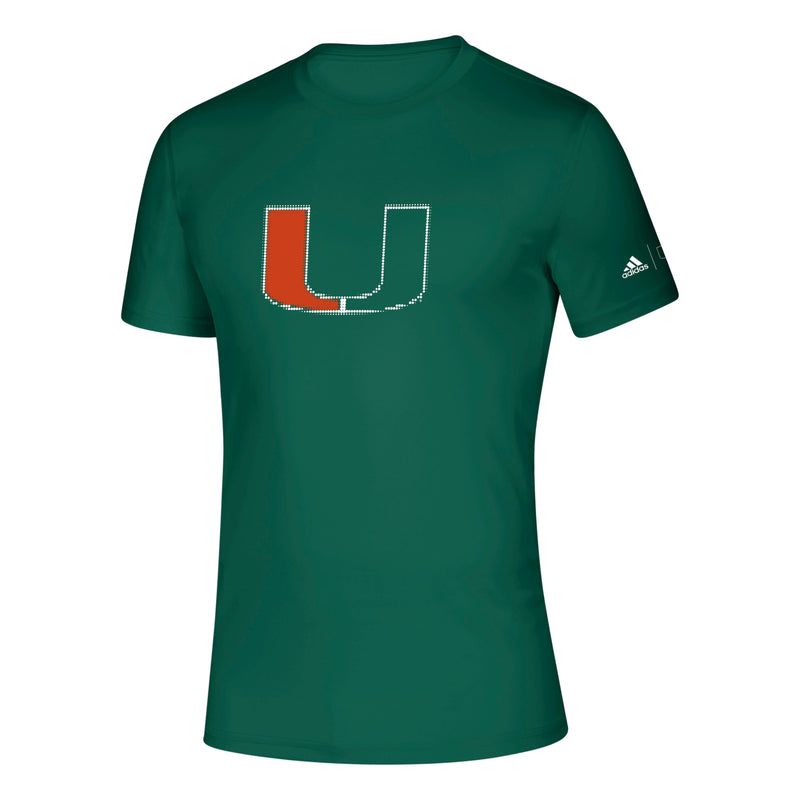 Miami Hurricanes 2019 Dot Matrix U Creator T-Shirt - Green
