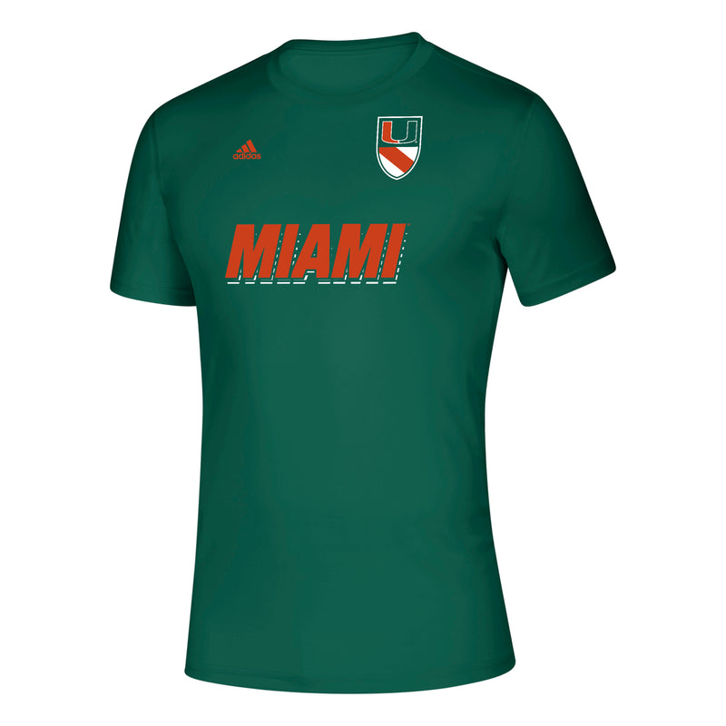 Miami Hurricanes 2019 03 Stripe Life Creator T-Shirt - Green