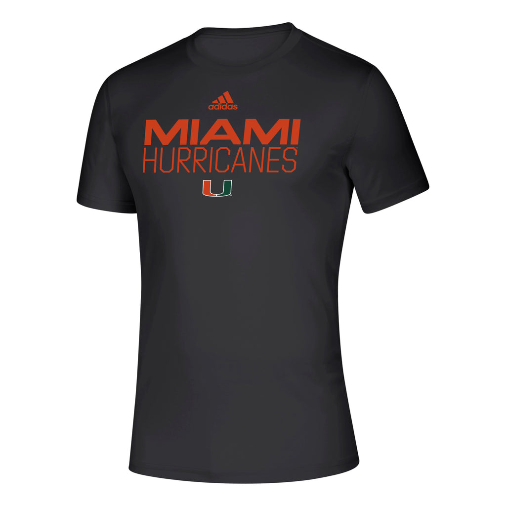 Miami Hurricanes 2019 Locker Stacked Creator T-Shirt - Black