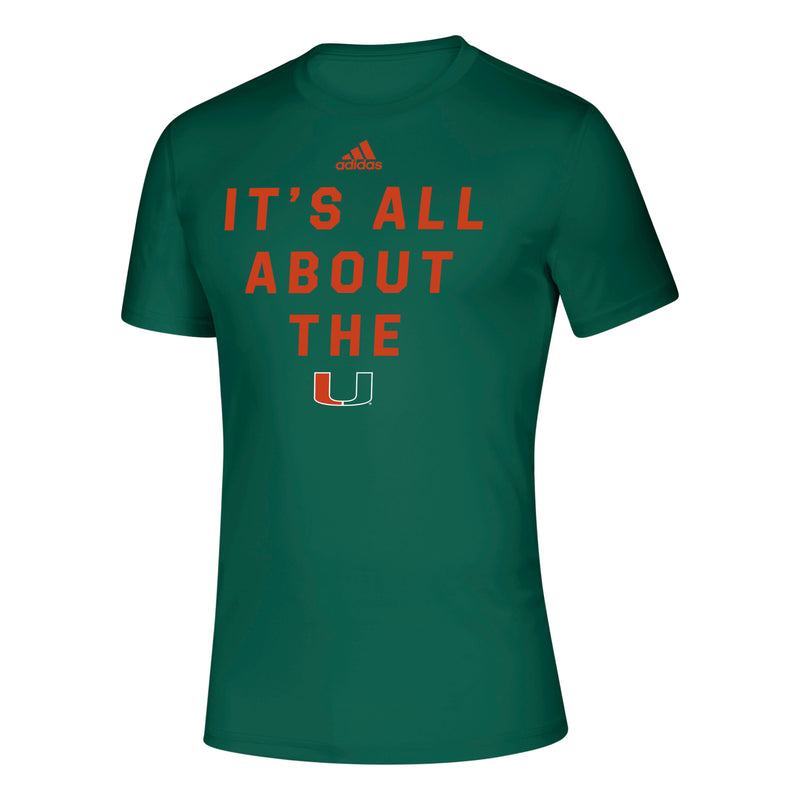 Miami Hurricanes adidas Locker It's All About the U Creator T-Shirt - Green
