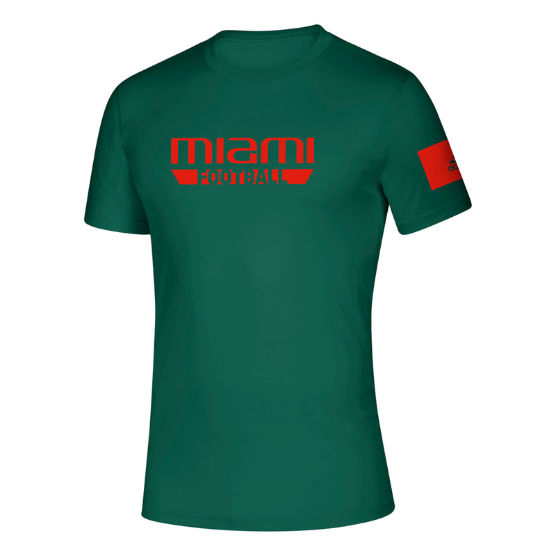 Miami Hurricanes 2019 Locker Practice Football Creator T-Shirt - Green