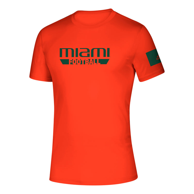 Miami Hurricanes 2019 Locker Practice Football Creator T-Shirt - Orange