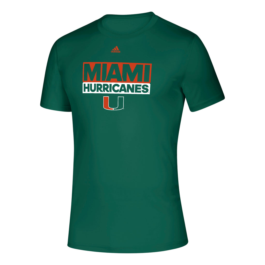Miami Hurricanes adidas 2019 Creator Adi Box T-Shirt - Green