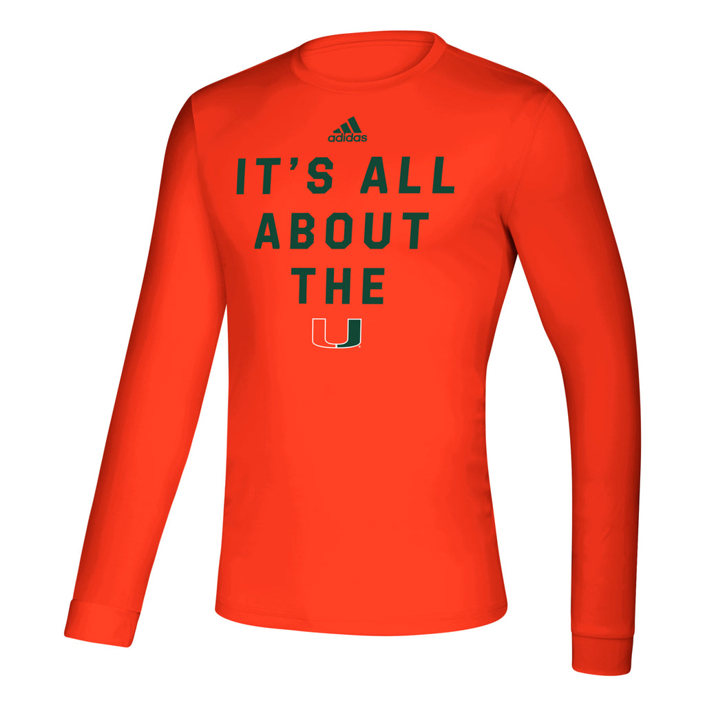 Miami Hurricanes 2019 Locker It's All About the U Creator Long Sleeve T-Shirt - Orange