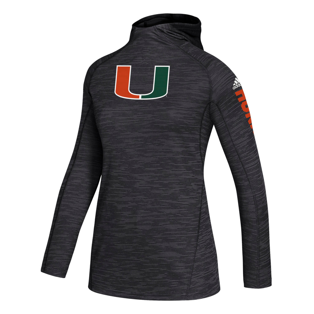 Miami Hurricanes 2019 Women's Game Mode Training Hood - Black