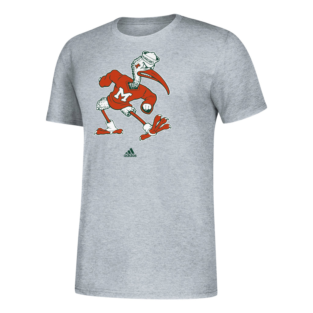 Miami Hurricanes 2019 Vintage Vault Sebastian Amplifier T-Shirt - Grey