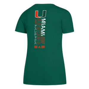 Miami Hurricanes 2019 Tape to Tape Amplifier Tee - Green
