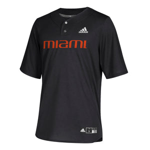 Miami Hurricanes adidas 2019 Elite Baseball Jersey - Black