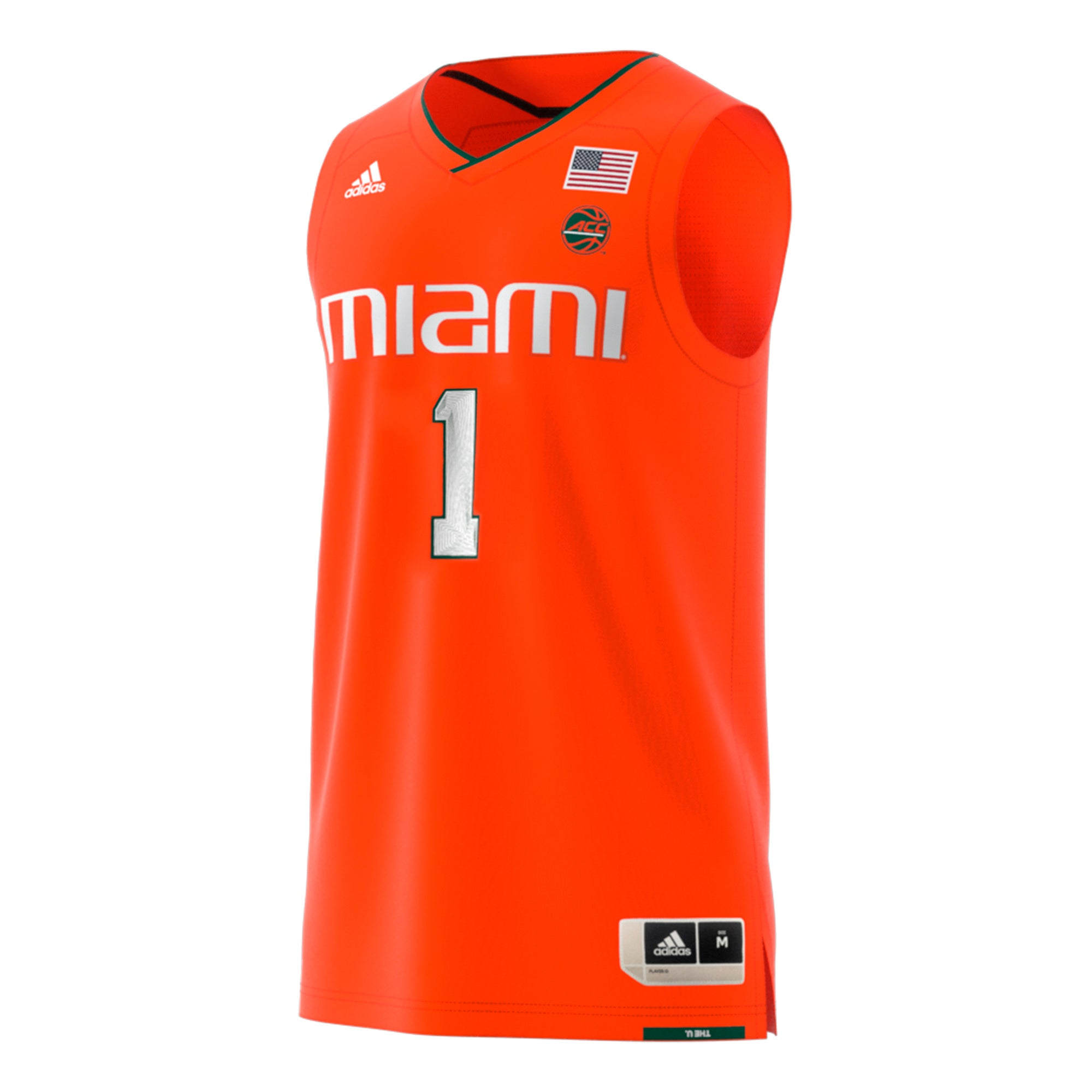differently 31bf0 dc4af Miami Hurricanes adidas 2018 Basketball Swingman Jersey #1- Orange