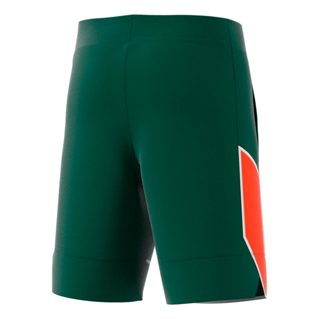 Miami Hurricanes adidas 2018 Team Basketball Shorts - Green