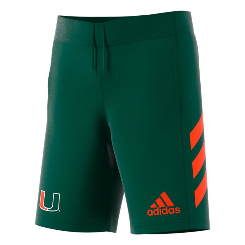 Miami Hurricanes adidas 2018 Basketball Practice Shorts - Green