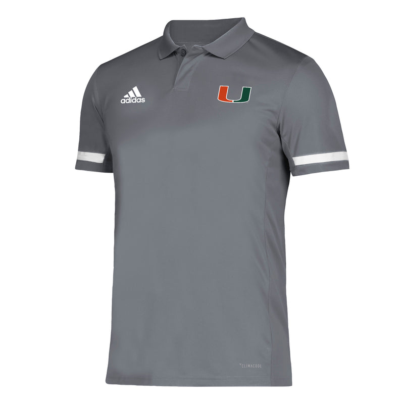 Miami Hurricanes adidas 2019 Golf Polo - Grey