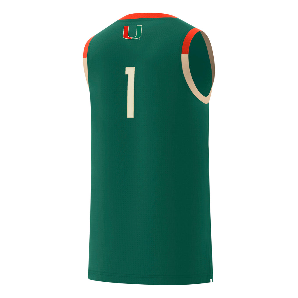 Miami Hurricanes adidas 2019 Basketball Black History Month Jersey #1 - Green