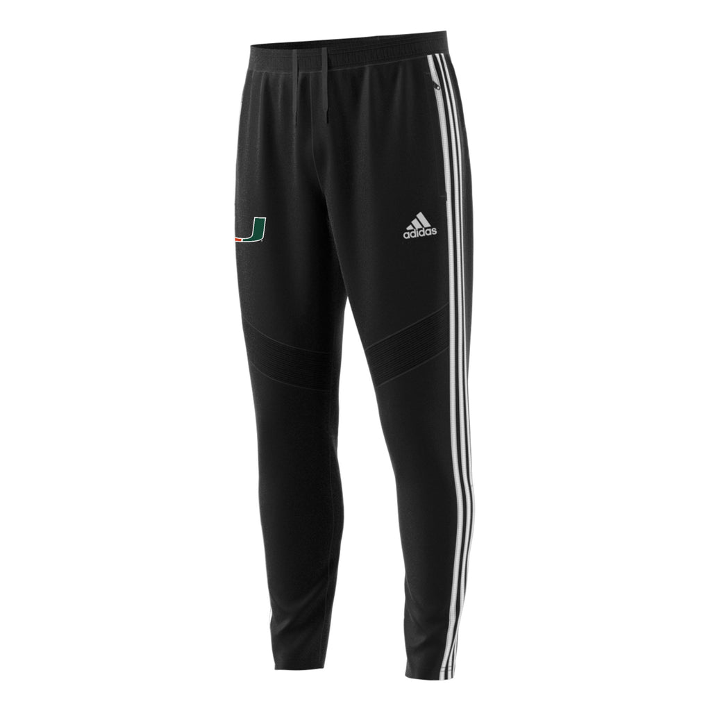 Miami Hurricanes adidas 2019 TIRO19 Tricot Tiro Pants - Black and White