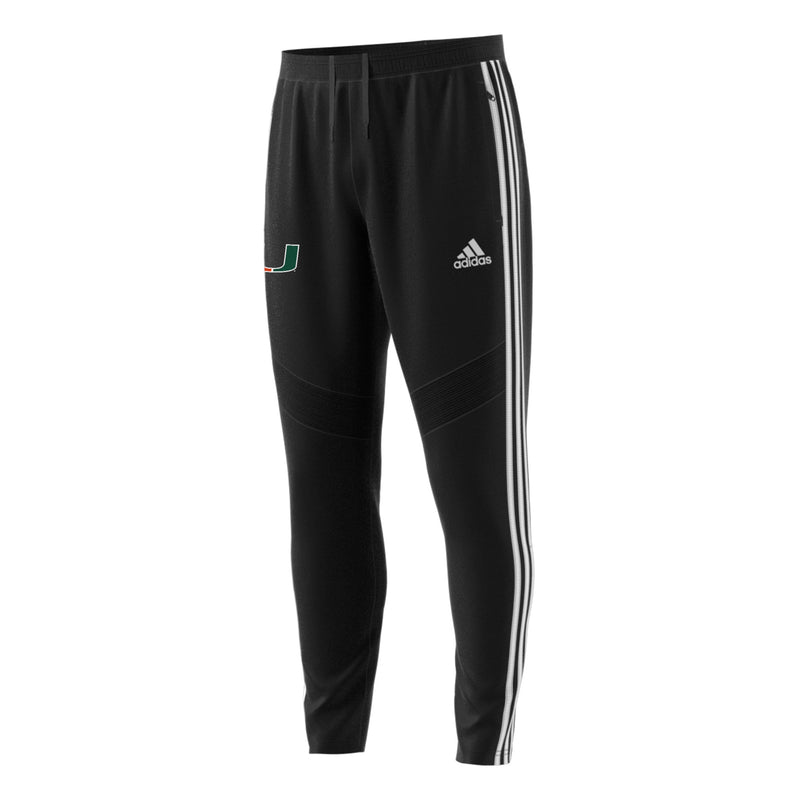 Miami Hurricanes 2019 TIRO19 Tricot Pants - Black and White