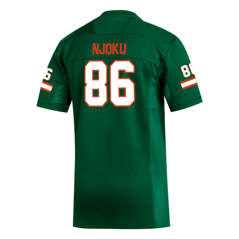 Miami Hurricanes adidas David Njoku Replica Jersey - Green