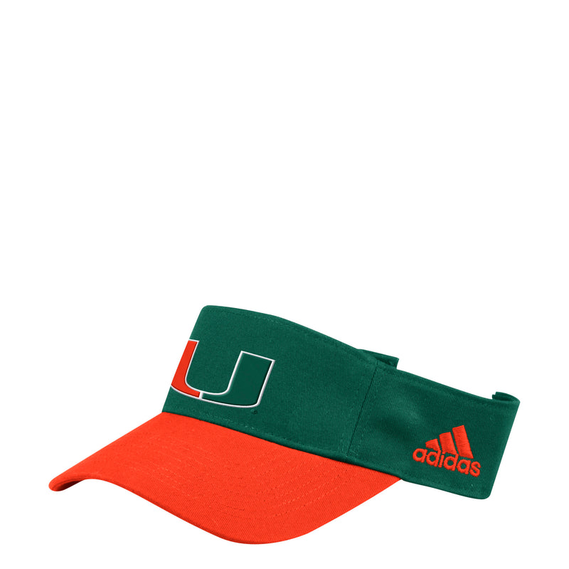 Miami Hurricanes adidas 2019 Sideline Coaches Visor - Green/Orange