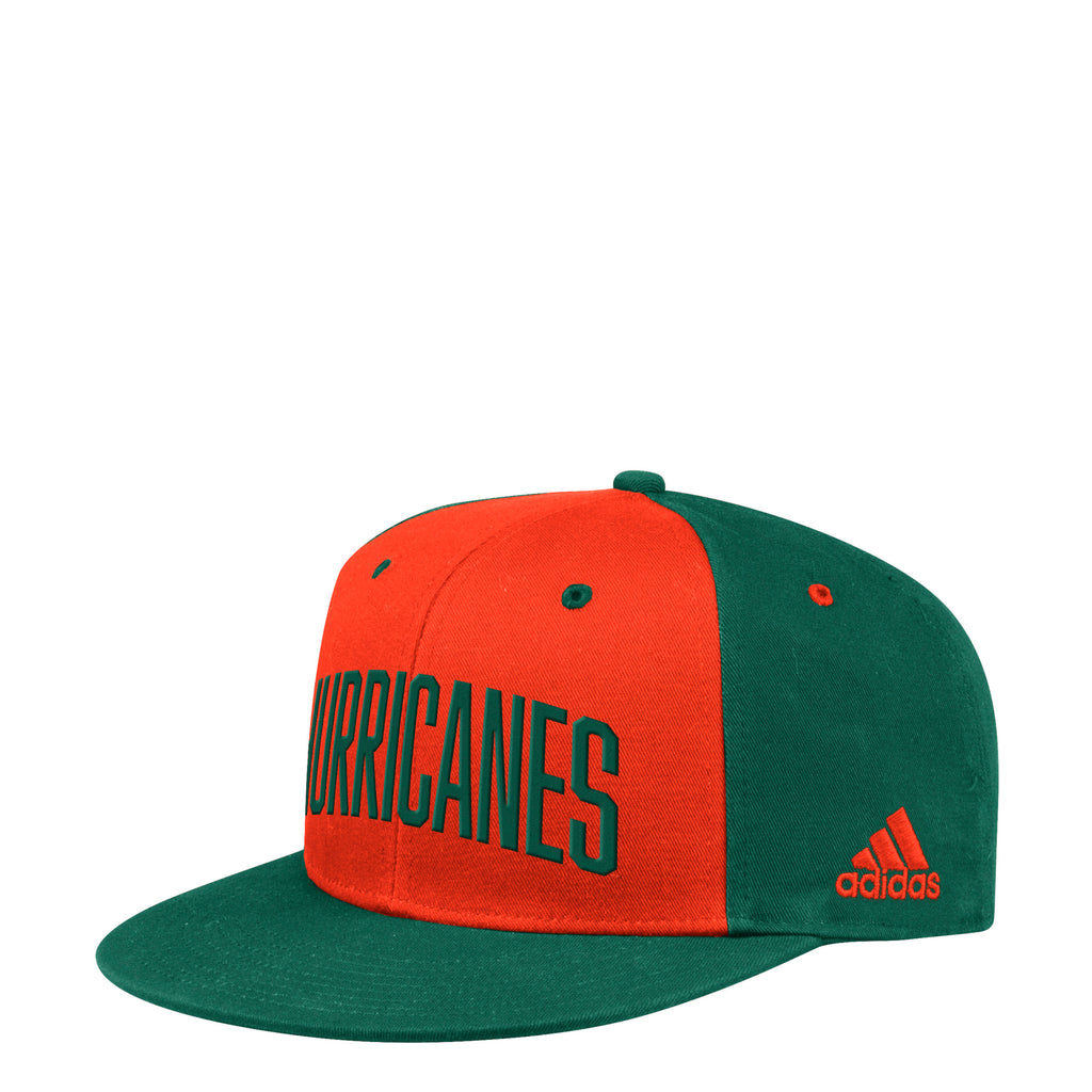 Miami Hurricanes adidas 2019 Wordmark Adjustable Snapback