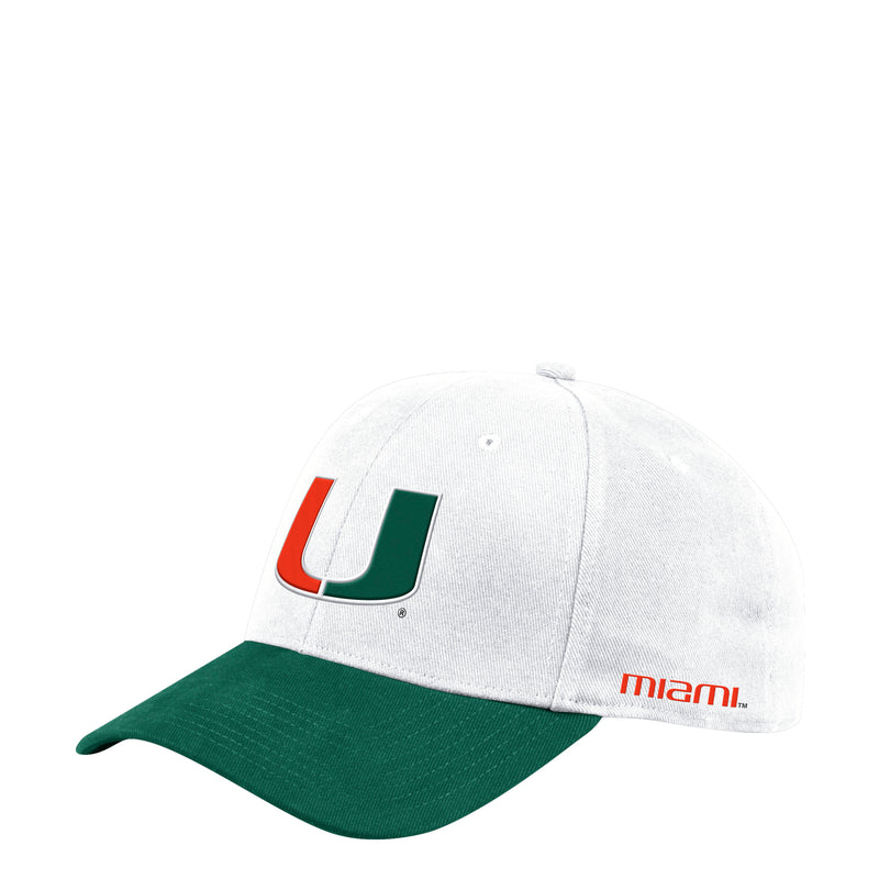 Miami Hurricanes adidas 2019 Coach Structured Flex Hat - White